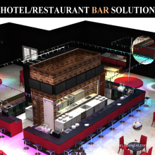 Conception commerciale de compteur d'équipement de barre d'acier inoxydable de restaurant d'hôtel