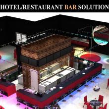 Commercial Hotel Restaurant Stainless Steel Bar Equipment Counter Design