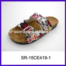 Женщины последний дизайн тапочки сандалии красивый дизайн дамы сандалии плоские сандалии для дам фотографии