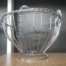 Silver chrome iron metal wire fruit basket
