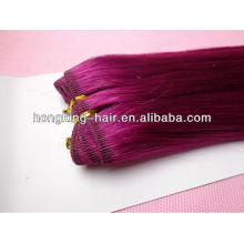 doppelte gezeichnete rosa Farbe 5a billig 100% indisches Haar indisches remy Haar