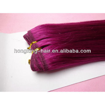 double drawn pink color 5a cheap 100% indian hair indian remy hair