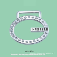 Logo for Handbags, Zinc Alloy Label Covered Diamonds
