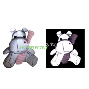 Reflective hippopotamus for bag or key