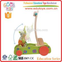 Velocidad de madera ajustable Walker Toy bebé para el niño aprender a caminar