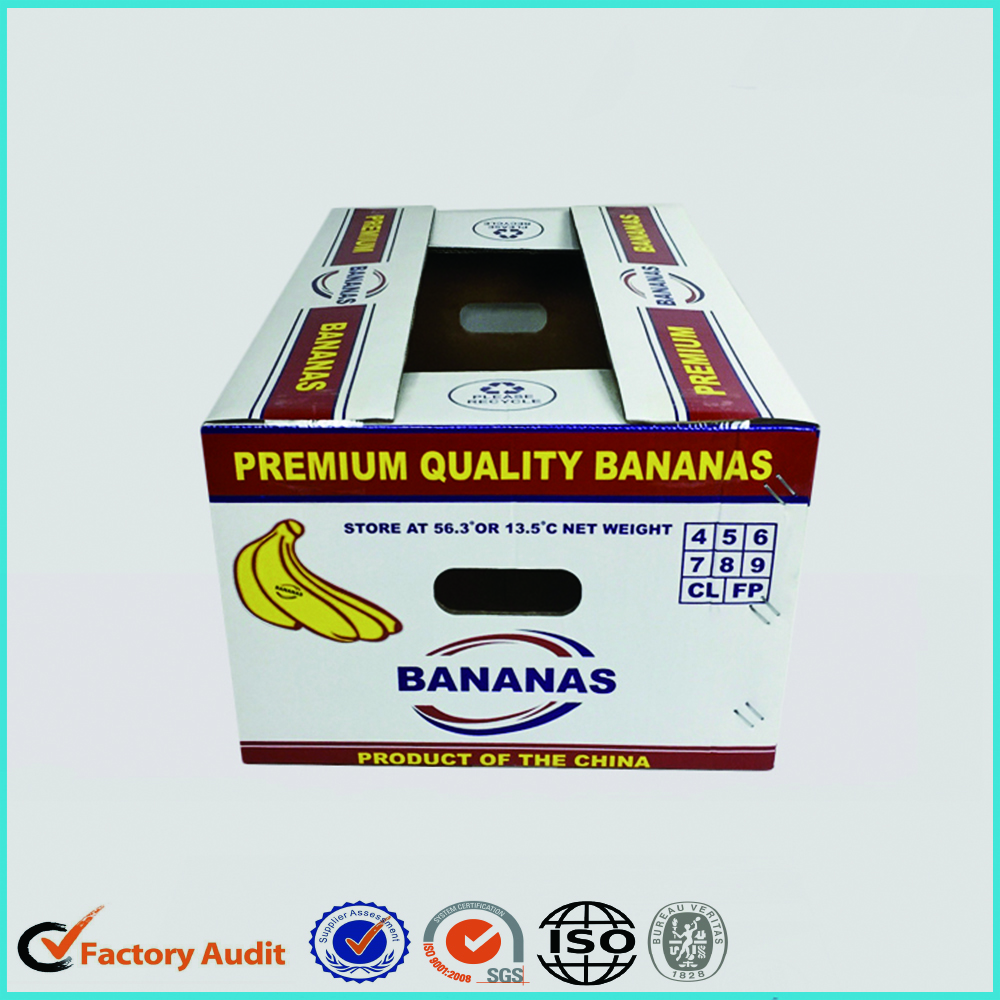 Corrugated Paper Fruit Carton Banana Packaging Box