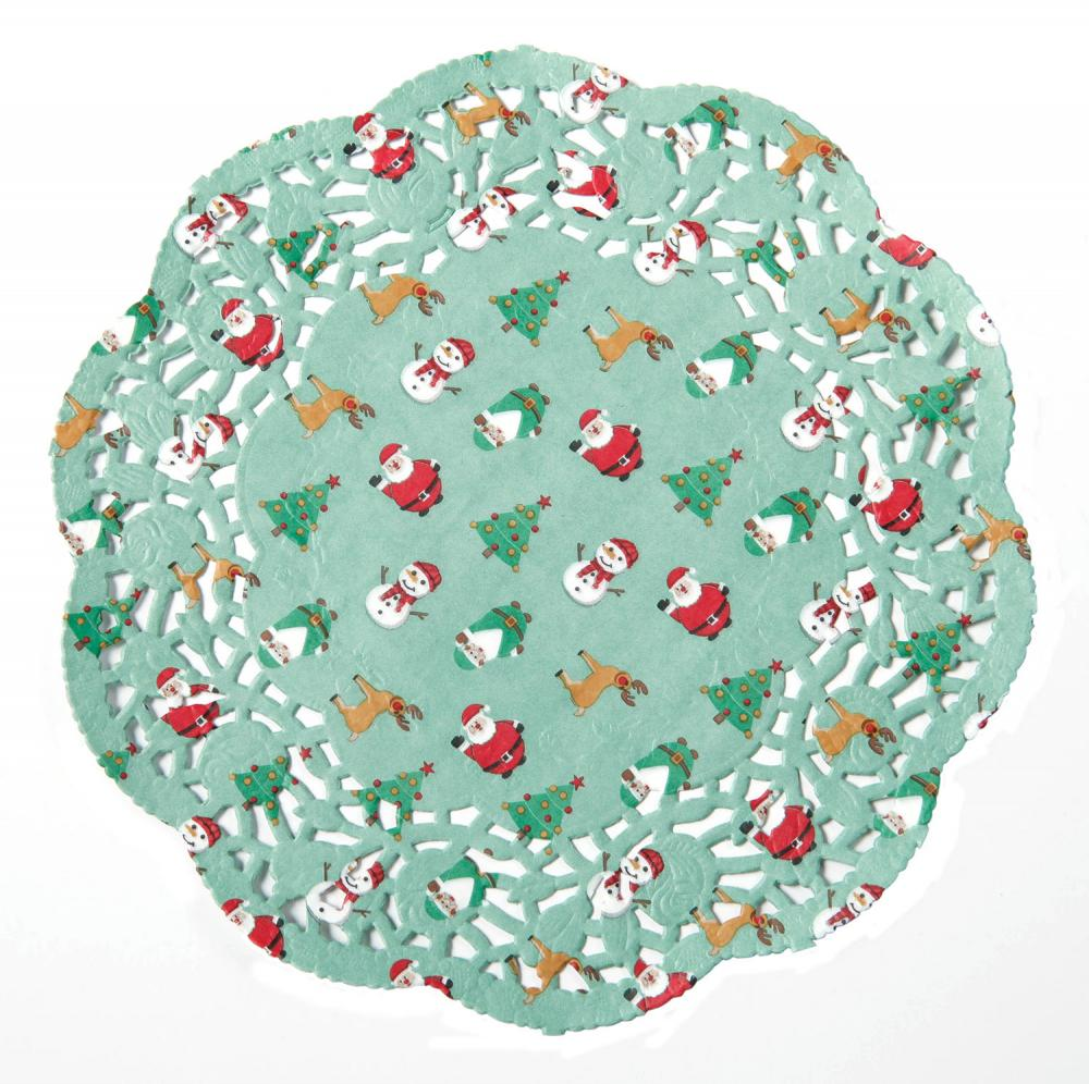 Christmas Beautiful Lace Round Paper Doilies
