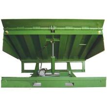 Plataforma de levantamento manual do caminhão estacionário do carregamento do recipiente