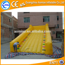 Cheap small indoor yellow color inflatable slip n slide for sale