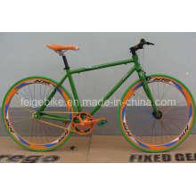 700c de bicicleta de pista de engrenagem fixa
