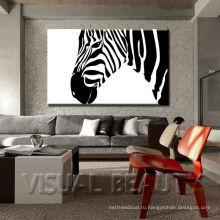 Украшение стены зебры / печати холстины холстины зебры для стены / африканской дикой природы цифровой фотографии Zebra декора
