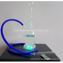 GH074-LT alle Glas Chicha Huka / Nargile / Wasser Rohr / mit LED Licht / sheesha / narguile