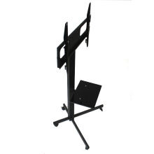 "Movable and Adjustable Heavy Duty Mobile Wrought Iron TV Stand with Mount for 32""-70"" Screens"