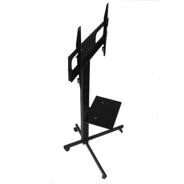 """Movable and Adjustable Heavy Duty Mobile Wrought Iron TV Stand with Mount for 32""""-70"""" Screens"""