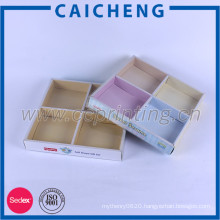 Creative toys paper box packaging with paper divider and pvc sleeve