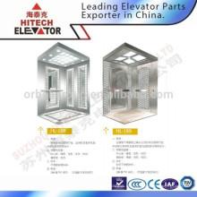 Кабина лифта с зеркальной поверхностью из нержавеющей стали / HL-188