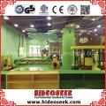 Campo de jogos interno de Chidlren do padrão do Ce do tema da selva para o centro recreativo