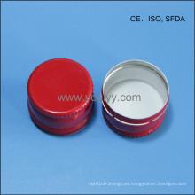 Casquillo de Aluminio Rojo de 28mm