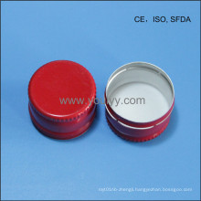 28mm Red Color Aluminium Cap