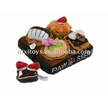 plush pet toy cake
