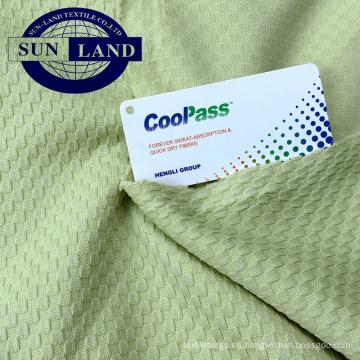 Tejido a cuadros de jacquard 100% poliéster para camisetas o polo