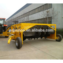 machine de retournement de compost d'instrument de tracteur