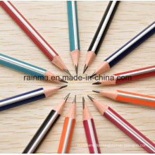 Triangle Strip Barrel Wooden Pencil with High Quality