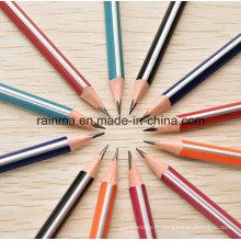 Lápis de madeira do tambor da tira do triângulo com alta qualidade