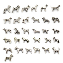Tibetan Silver Dog Animal Floating Charms Wholesale