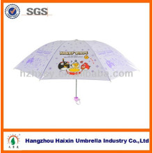 Fancy Pearl Shining Kid's Umbrella With Cartoon Pictures Printing