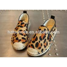 Fashion kids leopard shoes cool casual espadrille shoes