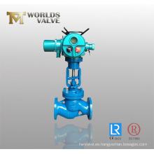 Válvula de globo Wcb eléctrica