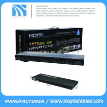 1x16 HDMI Splitter 1X16 HDMI splitter 1in 16 out 16 port video converter connector adapter support 3D 1080p