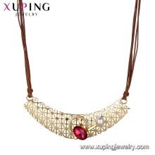 necklace-00639 xuping 2018 nouveau design meilleur vente collier de luxe pour femmes avec cristal et perle