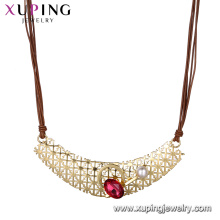 necklace-00639 xuping 2018 new design best selling women's luxury necklace with crystal and pearl