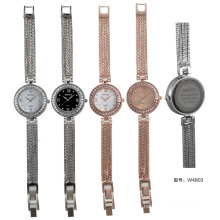 W4803 fancy copper alloy band wrist watches ladies watch with zircon stone