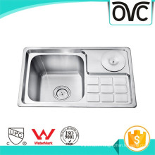 Double bowl good price stainless steel sink with Waste Bin Double bowl good price stainless steel sink with Waste Bin