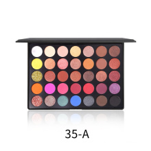 Wholesale High Pigment Makeup OEM Private label 35 Color Eyeshadow Palette
