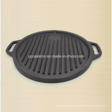 Preseasoned Cast Iron Griddle Grill Pan for Steak Cooking