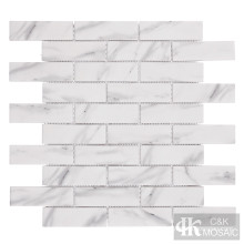 Printing White Glass Mosaic Subway Wall Tile