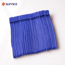 Printed hook and loop tie for wire fasteners tie