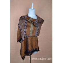 Silk & Wool Jacquard Scarf (12-BR010207-1.2)