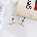 Earrings For Women Woven Handmade Straw Shell Drop Dangle Earrings Bohemian Lightweight Earrings Geometric Statem