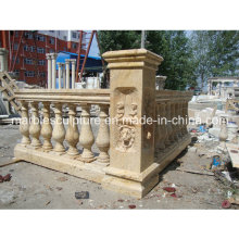 Beige Travertine Stone Sculpture Stair Balustrade (SY-B010)