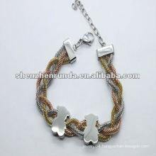 Brand New bears love gold steel cheap charm bracelets