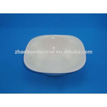 2015 hot white porcelain square salad bowl