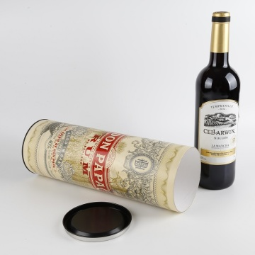 Pappzylinder Verpackung Single Wine Tube Box