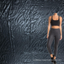 new quick dry tiger skin mermaid design polyester emboss pants fabric for active wear