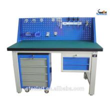 Garage steel workbench with drawers workshop furniture