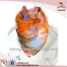 Écharpe en soie imprimée à imprimé numérique Spring Ladies